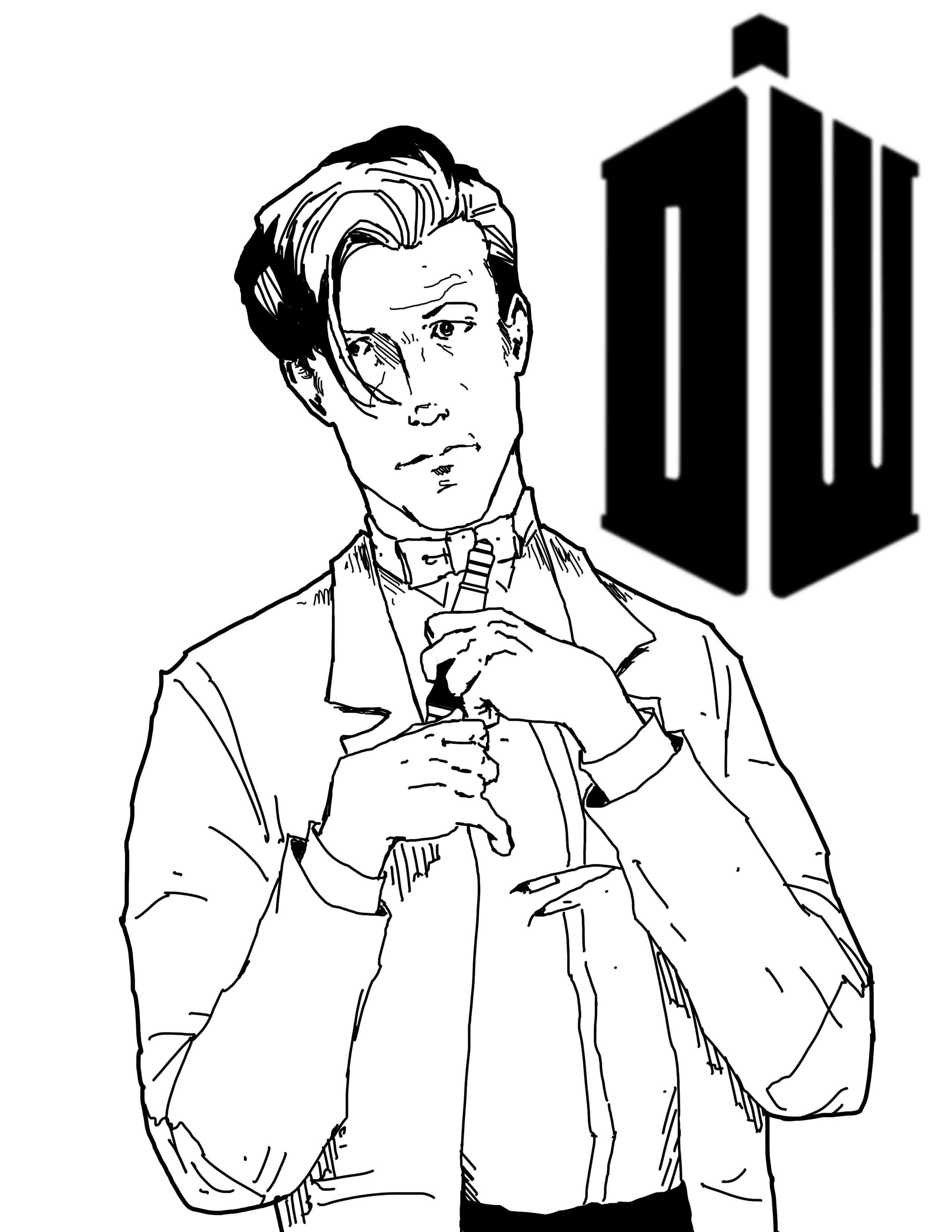 Line Drawing Of A Doctor : The gallery for gt doctor who dalek coloring pages